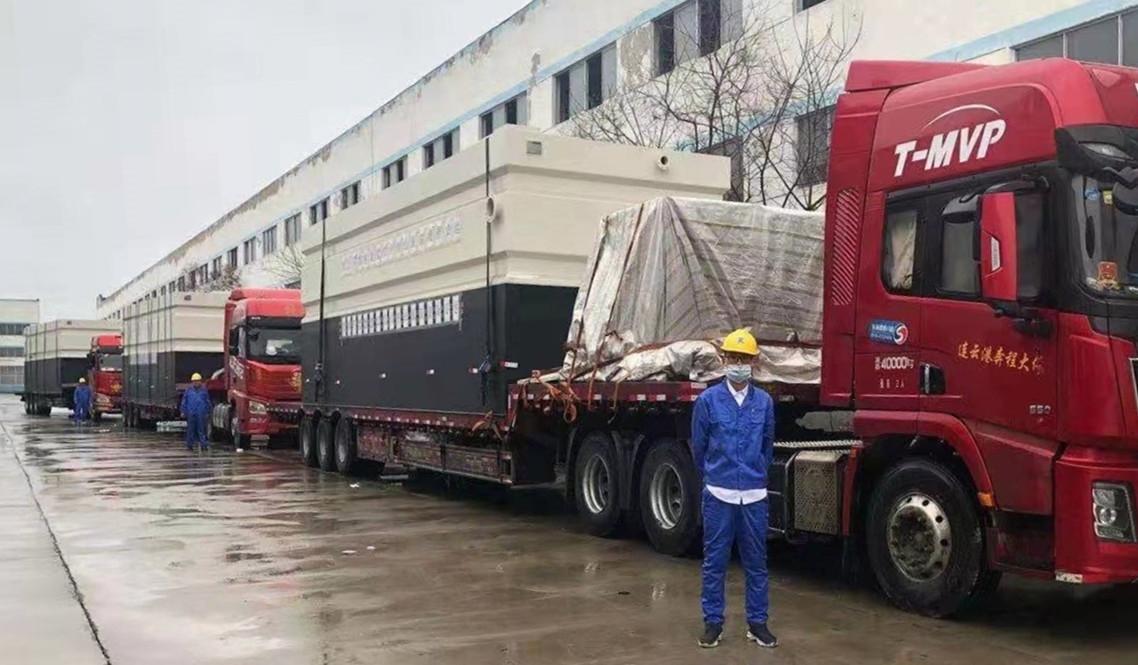大型污水集成处理设备分3组11台从江苏宜兴起运至武汉。.jpg